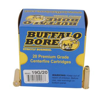Buffalo Bore Ammunition 357 Magnum 125 Grain Jacketed Hollow Point Box of 20, UPC :651815019277
