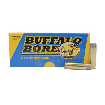 Buffalo Bore Ammunition 500 S&W Magnum 440 Grain Lead Flat Nose Gas Check High Velocity Box of 20, UPC :651815018027