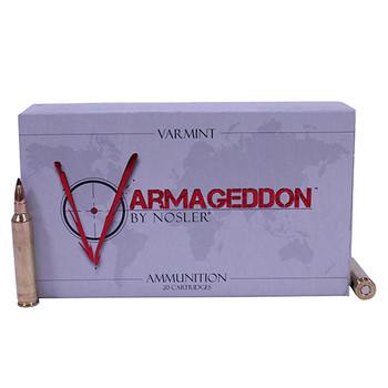 Nosler Varmageddon Ammunition 221 Remington Fireball 40 Grain Tipped Flat Base Box of 20, UPC : 054041651257