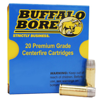 Buffalo Bore Ammunition 480 Ruger 410 Grain Lead Wide Flat Nose Box of 20, UPC :651815013237