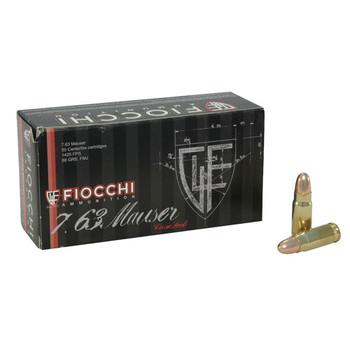 Fiocchi Ammunition 30 Mauser (7.63mm) 88 Grain Full Metal Jacket Box of 50, UPC :762344001487