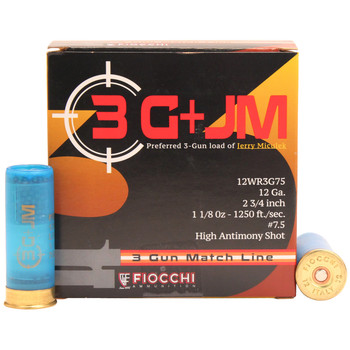 CASE OF 10 3-GUN MATCH 12GA 2.75IN 1-1/8OZ 25/BX, UPC :762344711447