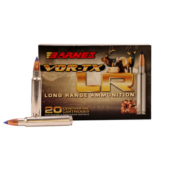 Barnes VOR-TX Long Range Ammunition 375 Remington Ultra Magnum 270 Grain LRX Polymer Tipped Boat Tail Lead-Free Box of 20, UPC :716876137527