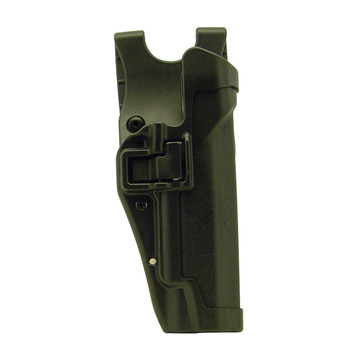 BLACKHAWK! Level 2 Duty SERPA Belt Holster, Fits 1911 Government With or Without Rail, Right Hand, Black 44H003BK-R, UPC :648018032516