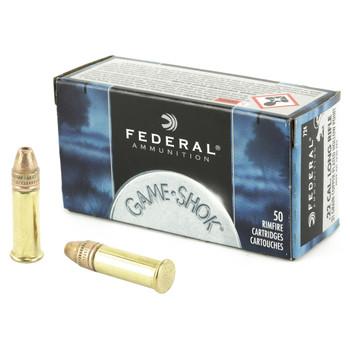 Federal GameShok, 22LR, 31 Grain, Hollow Point, Hyper Velocity, 50 Round Box 724, UPC : 029465056766