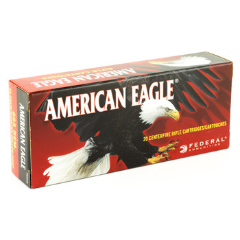 Federal American Eagle, 223REM, 50 Grain, Jacketed Hollow Point, 20 Round Box AE223G, UPC : 029465091026