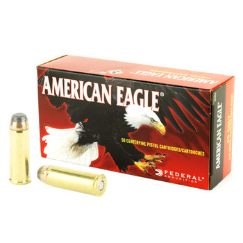 Federal American Eagle, 45LC, 225 Grain, Jacketed Soft Point, 50 Round Box AE45LC, UPC : 029465061586