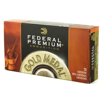 Federal Gold Medal, 300 WIN MAG, 190 Grain, Boat Tail, Hollow Point, 20 Round Box GM300WM, UPC : 029465091736