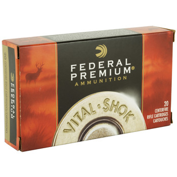 Federal Vital-Shok, 30-06, 165 Grain, Nosler Partition, 20 Round Box P3006AD, UPC : 029465096816