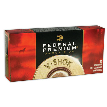 Federal Vital-Shok, 308Win, 165 Grain, Sierra GameKing Boat Tail Soft Point, 20 Round Box P308C, UPC : 029465084776