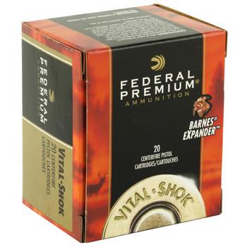 Federal Vital-Shok, 454 Casull, 250 Grain, Barnes Expander, Lead Free, 20 Round Box P454XB1, UPC : 029465098346