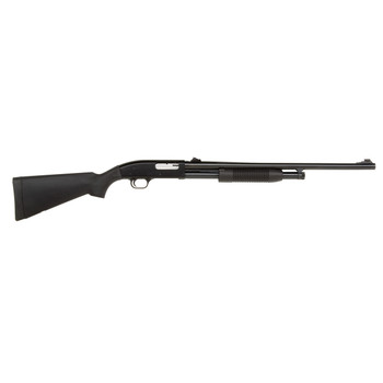 "Mossberg 88, Pump Action, 12 Gauge, 3"" Chamber, 24"" Fully-Rifled Bore, Blue Finish, Synthetic Stock, Adjustable Rifle Sights, 5Rd 31044, UPC : 049533310446"
