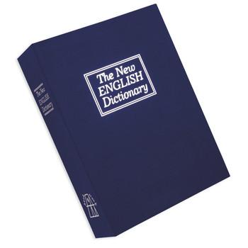 "Bulldog Cases Diversion Pistol Vault Safe, 10.5""x7.75""x2.75,"" Foam Interior, Blue Finish, Book with Combination Lock BD1180, UPC :672352008586"