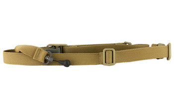 Blue Force Gear Molded Acetal Adjuster Padded Sling, 2-To-1 Point Padded Sling, Coyote Brown VCAS-2TO1-RED-125-AA-CB, UPC :814520019936