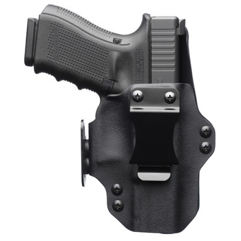 Black Point Tactical Dual Point Belt Holster, Fits Glock 43, Leather/Kydex, Right Hand, Black 104869, UPC :191107048696