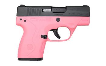 "Beretta NANO, Striker Fired, Sub Compact Pistol, 9MM. 3.07"" Barrel, Polymer Frame, Pink Finish, 3 Dot Sights, 1-6Rd & 1-8Rd, 2 Magazines JMN9S65, UPC : 082442719276"