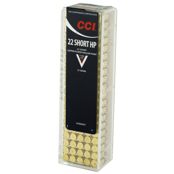 CCI/Speer High Velocity, 22S, 27 Grain, Gilded Lead Hollow Point, 100 Round Box 28, UPC : 076683000286
