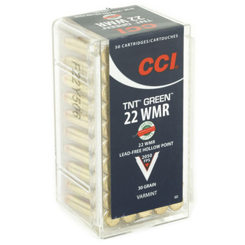 CCI/Speer TNT Green, 22WMR, 30 Grain, Jacketed Hollow Point, Lead Free, 50 Round Box 60, UPC : 076683000606