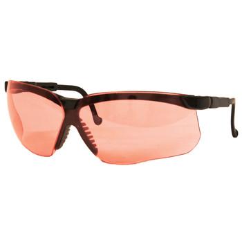 Howard Leight Genesis Glasses, Black Frame, Vermilion Lens R-03575, UPC : 033552035756