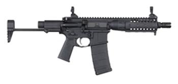 "LWRC IC-PDW, Semi-automatic Rifle, 223 Rem/556NATO, 8.5"" Barrel, 1:7 Twist, Black Finish, LWRCI Exclusive PDW Stock, Magpul MOE Plus Grip, Skirmish Sights, 30Rd, LWRCI JSG Flash Hider, LWRCI Enhanced Fire Control Group PDWR5B8IC, UPC :859530005616"