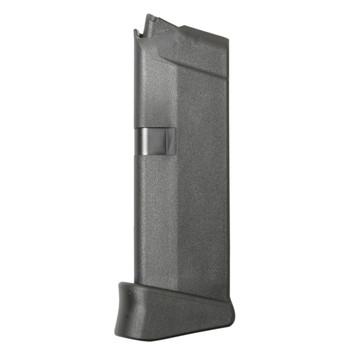 Glock OEM Magazine, 380ACP 6Rd, Fits GLOCK 42, Grip Extension, Cardboard Style Packaging, Black Finish MF08833, UPC :764503911576
