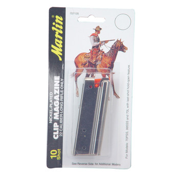 Marlin Magazine, 22LR, 10Rd, Fits Bolt Actions and Post 1988 Auto loading Rifles, Nickel Finish 71902, UPC : 026495071356