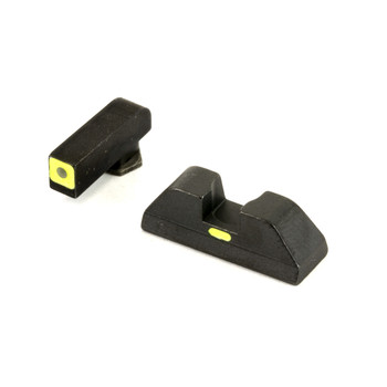 AmeriGlo CAP - Combative Application, Sight, Fits Glock 42 and 43, Green Tritium front, LumiLime Square Outline, Painted LumiLime Line rear, Front/Rear GL-605, UPC :644406908876