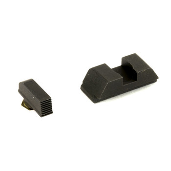 AmeriGlo Defoor, Sight, Fits Glock 42 and 43, Black Serrated Front, Black Rear, Front/Rear GT-532, UPC :644406908906
