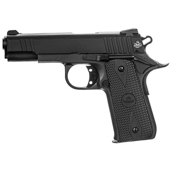 "Armscor Baby Rock, Rock Island 1911, 380ACP, 3.75"" Barrel, Steel Frame, Parkerized Finish, Rubber Grips, Fixed Sights, 7Rd, 1 Magazine, Fired Case 51912, UPC :4806015519126"