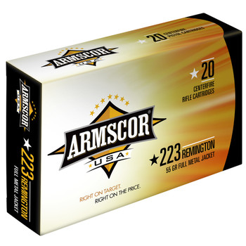 Armscor 223 Rem, 55 Grain, Full Metal Jacket, 20 Round Box FAC223-1N, UPC :812285020136