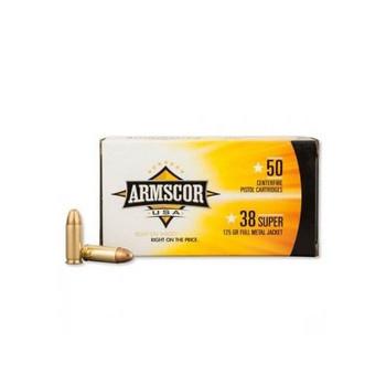 Armscor 38 Super, 125 Grain, Full Metal Jacket, 50 Round Box FAC38SUPER-1N, UPC :812285021416