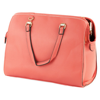Bulldog Cases Sachel Purse Holster, Fits Most Small Autos, Leather, Coral Color BDP-026, UPC :672352010916