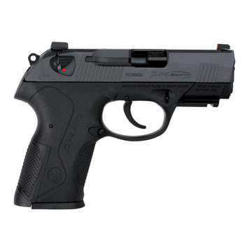 "Beretta PX4 Storm, Compact Carry, Semi-automatic, Double Action, 9MM, 3.2"" Barrel, Black Polymer Frame, Gray Cerakote Slide, Accessory Rail, Ambidextrous Safety, Night Sights, Talon Grip, 3 Magazines, 15 Rounds JXC9GEL, UPC : 082442864686"
