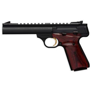 "Browning Buck Mark, Field Target, Semi-automatic, 22LR, 5.5"" Bull Barrel, Aluminum Frame, Black Finish, Cocobolo Grips, 10Rd 051528490, UPC : 023614441656"