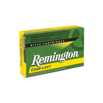 Remington Core Lokt, 30-06, 165 Grain, Pointed Soft Point, 20 Round Box 21415, UPC : 047700055206