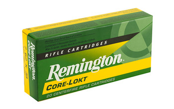 Remington Core Lokt, 762x39, 125 Grain, Pointed Soft Point, 20 Round Box 29125, UPC : 047700070506