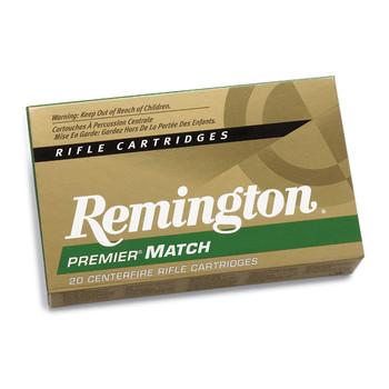 Remington Premier Match, 308WIN, 168 Grain, Boat Tail Hollow Point, 20 Round Box 21485, UPC : 047700068206
