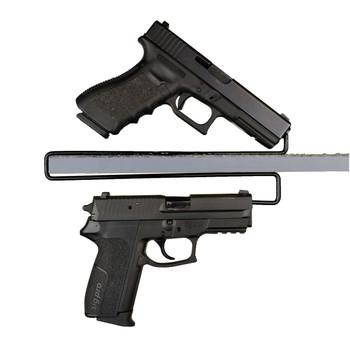 Gun Storage Solutions Over Under Handgun Hangers - 2 pack (4 gun storage) OUHH2, UPC :856691002096