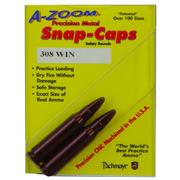 A-Zoom Snap Caps, 308 Win, 2 Pack 12228, UPC :666692122286