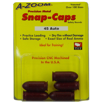 A-Zoom Snap Caps, 45ACP, 5 Pack 15115, UPC :666692151156