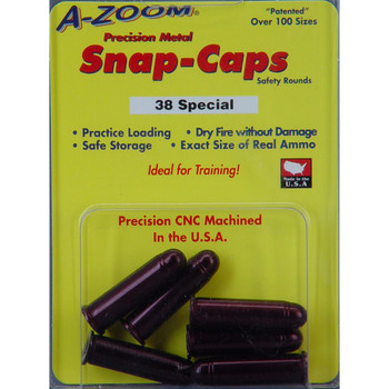 A-Zoom Snap Caps, 38 Special, 6 Pack 16118, UPC :666692161186
