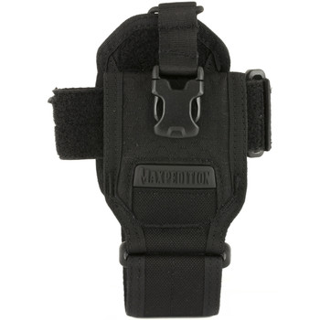 Maxpedition RDP Radio Pouch, Adjustable Side and Bottom Hook & Loop Straps, Adjustable Top Bungee, Black RDPBLK, UPC :846909021506