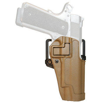 BLACKHAWK! CQC SERPA Holster With Belt and Paddle Attachment, Fits Colt Government, Right Hand, Coyote Tan 410503CT-R, UPC :648018009426