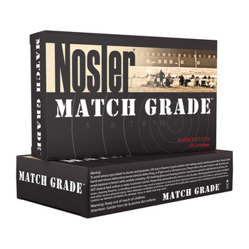 Nosler Match, 300 AAC Blackout, 220 Grain, Custom Competition, Subsonic, 20 Round Box 51275, UPC : 054041512756