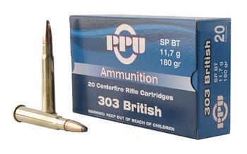 Prvi Partizan Rifle, 303 British, 180 Grain, Soft Point, 20 Round Box PP303S2, UPC :8605003812586