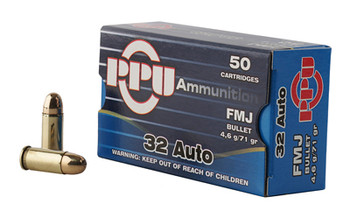 Prvi Partizan Pistol, 32 ACP, 71 Grain, Full Metal Jacket, 50 Round Box PPH32AF, UPC :8605003813026