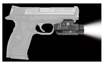 Crimson Trace Corporation Rail Master Tactical Light, Fits 1913 Picatinny Rail, High Beam, Low Beam, Strobe, And MomentaryModes, 1 Hour 50 Min Runtime at 110 Lumen, 1 Hour 5 Min Runtime at 420 Lumen on one CR123 Battery, Anodized Aluminum, Waterproof