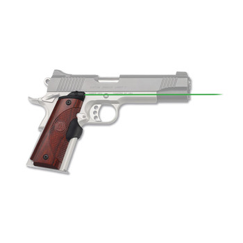 Crimson Trace Corporation Master Series, LaserGrip, 1911 Government/Commander, Natural Rosewood, Micro-Compact Diode, Fits Ambi-Safety Models, Front Activation LG-901G, UPC :610242007806
