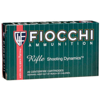 Fiocchi Ammunition Rifle, 22-250, 55 Grain, V-Max, 20 Round Box 22250HVD, UPC :762344707426