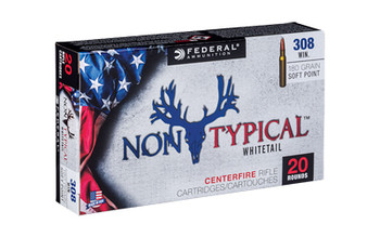 Federal Non Typical, 308 Win, 180Gr, Soft Point, 20 Round Box 308DT180, UPC :604544627046